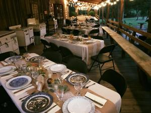 Cypress Grove Wedding Venue has a beautiful wedding reception setup held on their decking located near Lafayette, Louisiana in Eunice.