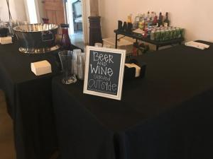 Wedding vendors in Lafayette, Louisiana, Mixx Media Bartending, wedding bar setup.