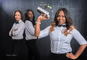 Wedding vendor near Lafayette, Louisiana, Mixx Media Bartending beautiful staff photo.