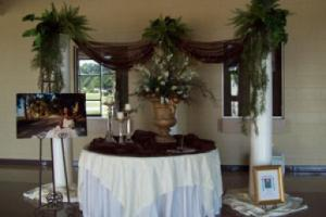 Wedding venue Cade Community Center near Lafayette Louisiana Sign in Table