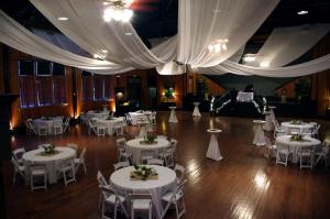 The beautiful wedding venue called The Madison located near Lafayette, Louisiana decorated for a wedding.