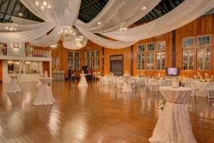 A beautiful wedding reception setup at the wedding venue near Lafayette, The Madison.