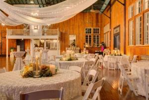 A wedding reception setup at The Madison, showing the bar area which is located near Lafayette, Louisiana.
