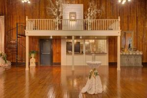 The bar area is shown in this photo at The Madison, a wedding venue located near Lafayette, Louisiana.