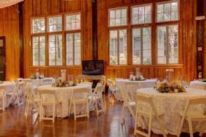 A beautiful wedding reception setup at the unique wedding venue, The Madison, located near Lafayette, Louisiana.
