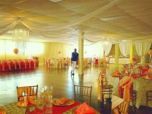 Xclusive Events Ballroom located in sunset louisiana with the owner setup for a wedding reception