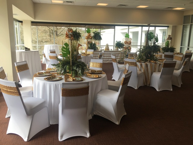 A beautiful wedding reception setup at one of the many venues located in Lafayette, Louisiana on the UL Lafayette campus.