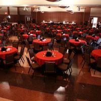 UL Lafayette Louisiana Wedding venue reception setup
